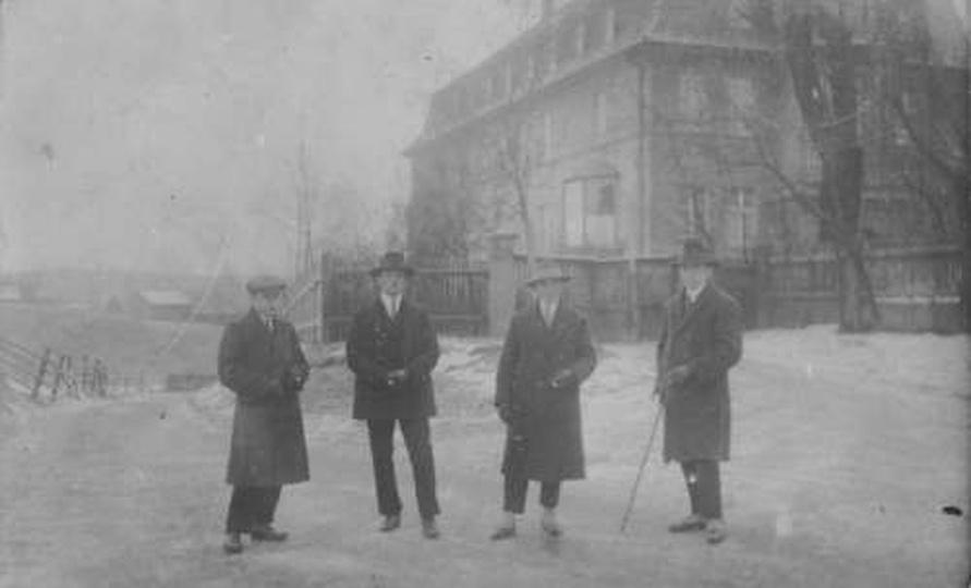 Pracownicy kaflarni - Budy Ostrzeszów, stare zdjęcia -