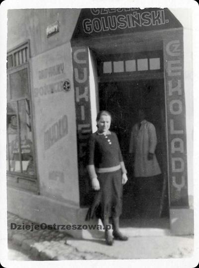 Koniec lat trzydziestych, sklep spożywczy w domu na styku ulicy Piekary i placu ..., stare zdjęcia -
