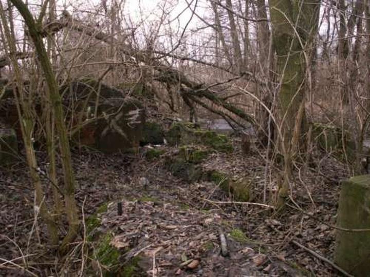 Ruiny młyna, stare zdjęcia -
