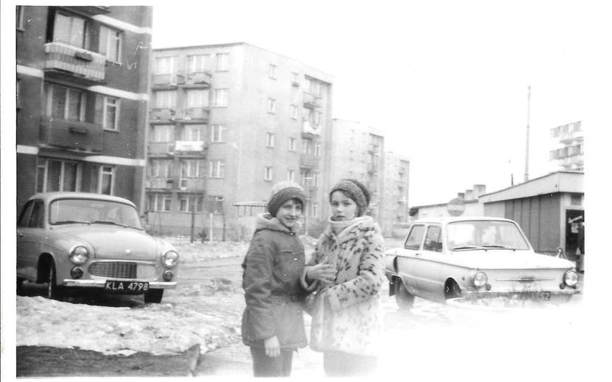 Osiedle M. Nowotki (Zamkowe). Początek lat osiemdziesiątych, po lewej bloki nr:..., stare zdjęcia -