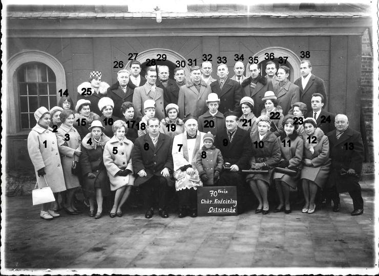 Rok 1966, 70 lecie chóru kościelnego. Jest to ostatnie znane nam zdjęcie chóru, ... -