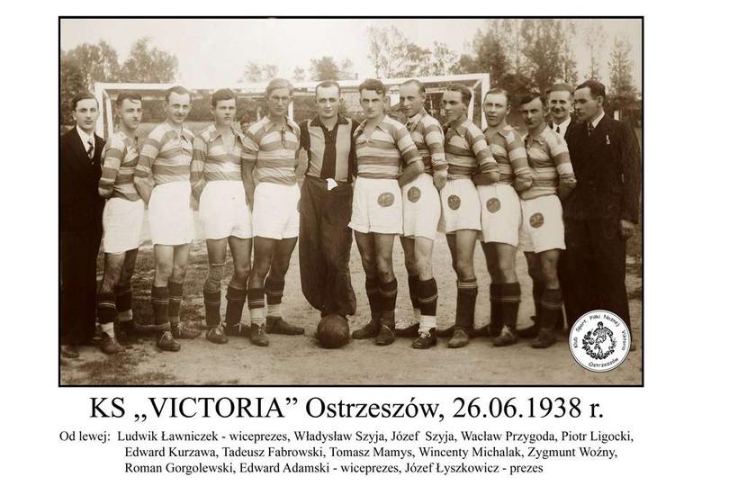 """KS """"VICTORIA"""" Ostrzeszów 26.06.1938, stare zdjęcia -"""