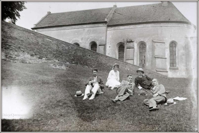 Pobernardyński Zespół Klasztorny w Ostrzeszowie. Początek lat trzydziestych, od..., stare zdjęcia -