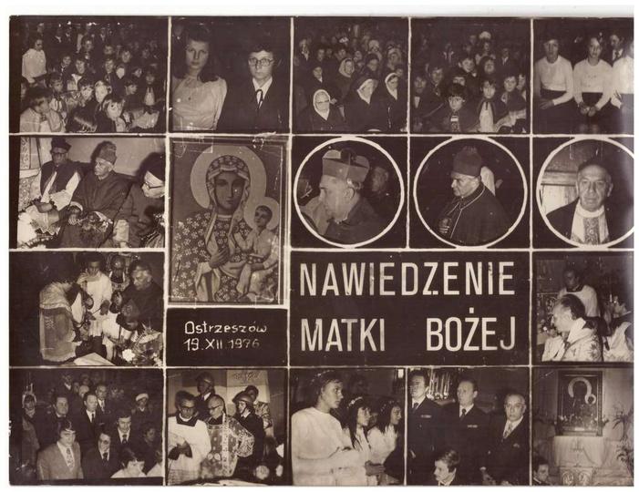 Nawiedzenie Matki Bożej Ostrzeszów 19 XII 1976, stare zdjęcia -