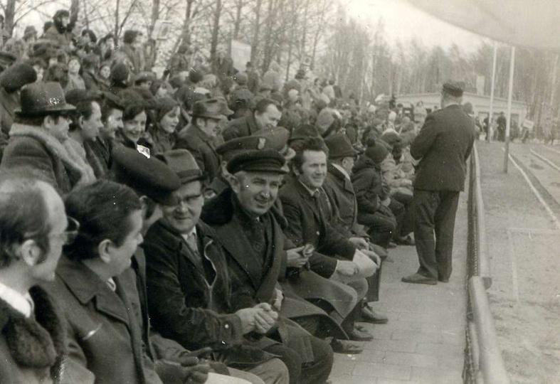 Stadion miejski, prawdopodobnie ostrzeszowski cross, chociaż zastanawia obecność..., stare zdjęcia -