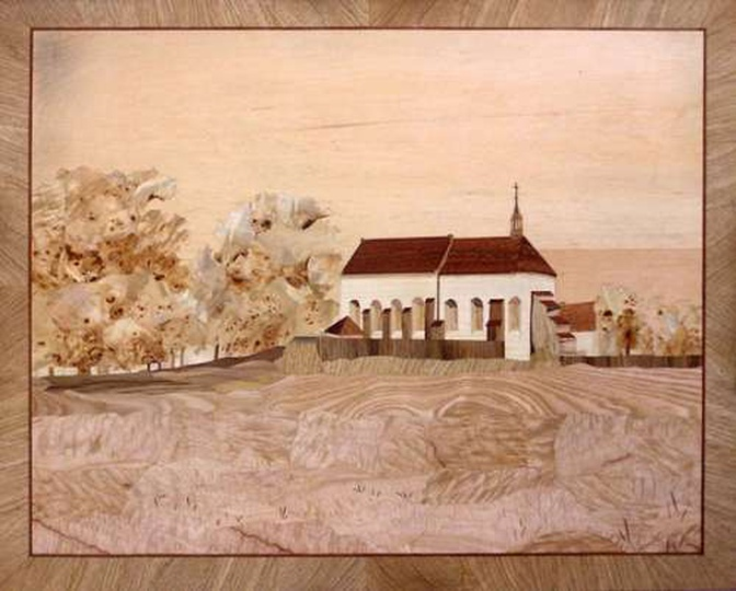 Klasztorek 2- intarsja, stare zdjęcia -