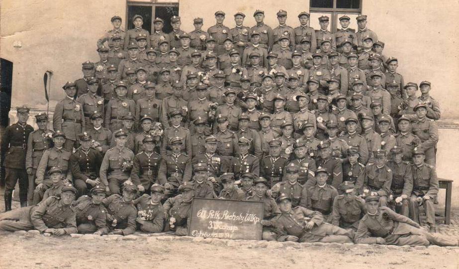 Koszary Ostrów Wlkp. 15-08-1934 r. 3 Kompania 60 Pułku Piechoty Wielkopolskiej..., stare zdjęcia -