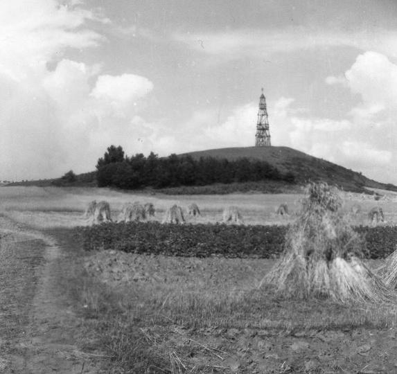 Nasza piękna Bałczyna (obecna pisownia Bełczyna).z starą drewnianą wieżą triangu..., stare zdjęcia -
