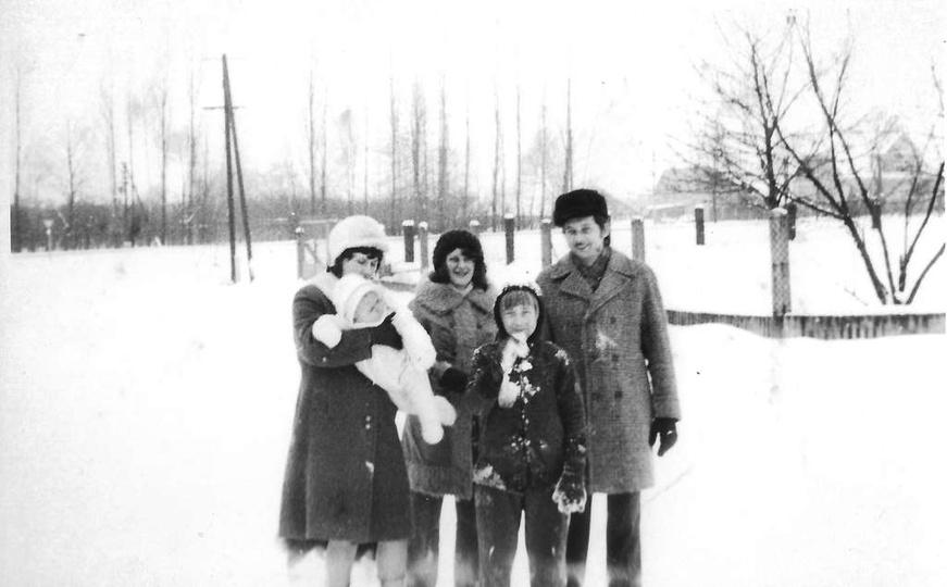 Zima 1976 roku, ulica Stefana Żeromskiego w tyle Powstańców Wielkopolskich. Ze ..., stare zdjęcia -