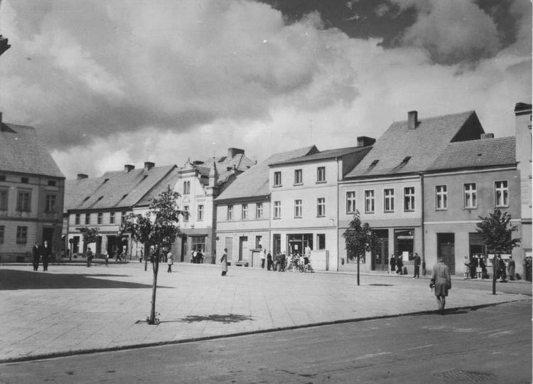 Rynek, koniec lat pięćdziesiątych., stare zdjęcia -