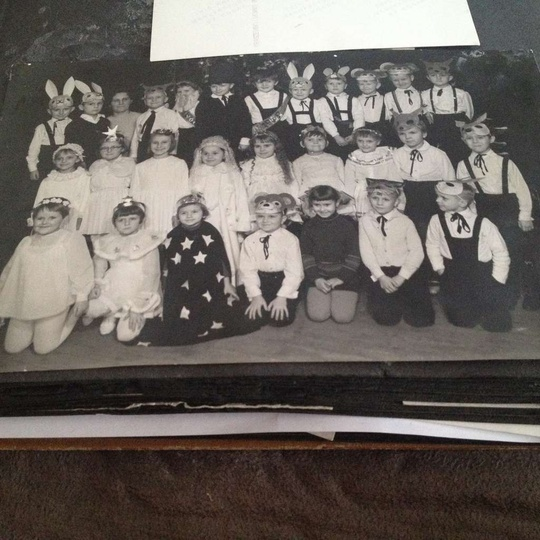 Świąteczne przedstawienie w przedszkolu nr  1. Prawdopodobnie rok szkolny 1968/6..., stare zdjęcia -
