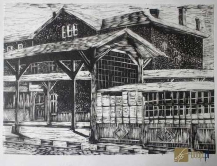 Dworzec kolejowy, stare zdjęcia -
