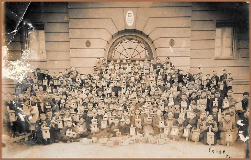 Rok ok. 1937, Publiczna Szkoła Dokształcająca Zawodowa, obecnie Szkoła Podstawow..., stare zdjęcia -