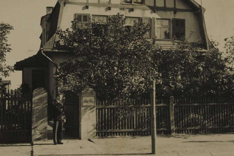 Lata trzydzieste, willa Vita przy ulicy Zamkowej 24 (obecnie Zamkowa 32). Przy f..., stare zdjęcia -