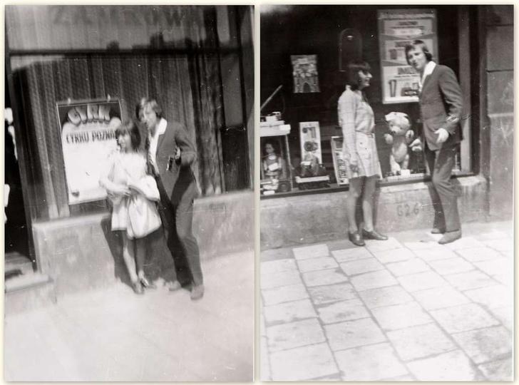 Koniec lat sześćdziesiątych, kamienica państwa Cieplików przy ulicy Boh. Staling..., stare zdjęcia -
