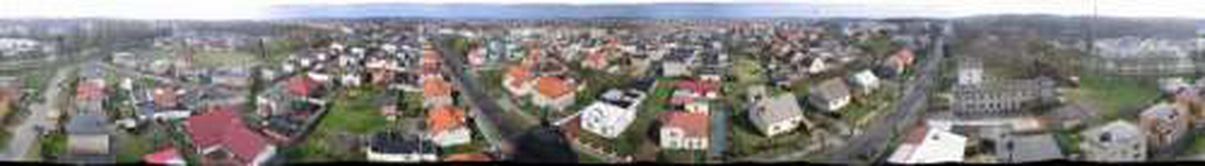 Panorama Ostrzeszowa widziana z Wieży Ciśnień, stare zdjęcia -