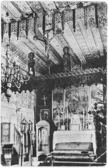 Wnetrze Kosciola sw.Anny w Ostrzeszowie, stare zdjęcia -