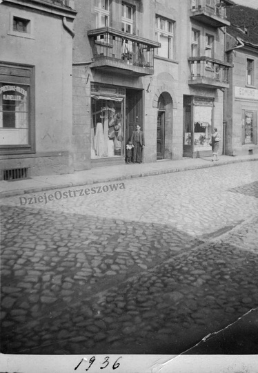 Rok 1936, kamienica państwa Cemplów przy ulicy Krakowskiej (obecnie Sikorskiego ..., stare zdjęcia -