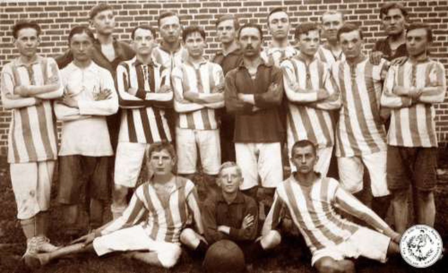 """Towarzystwo Piłki Nożnej """"RUINA"""" 1920r., stare zdjęcia -"""