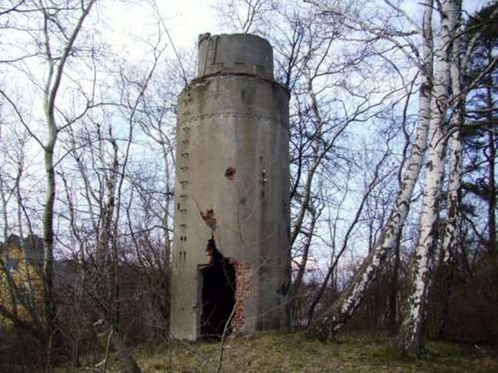 Wieża ciśnień przy ul. Wrzosowej, stare zdjęcia -