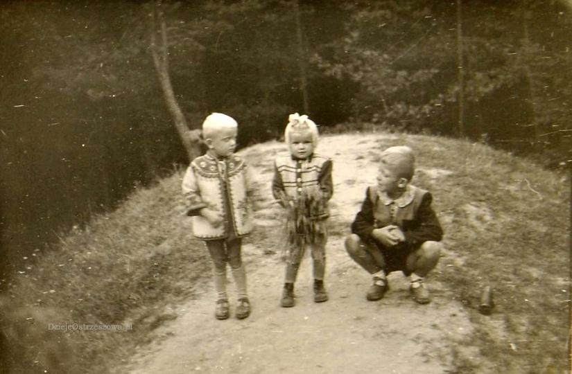 Na Klasztornej Górce. Początek lat pięćdziesiątych., stare zdjęcia -
