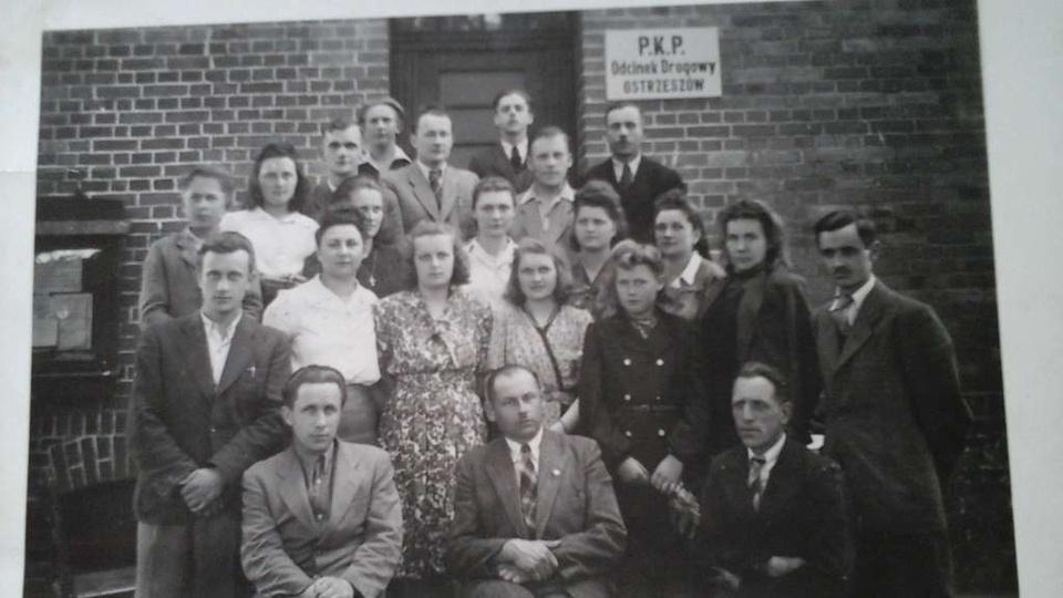 Rok 1947 Powstanie Spółdzielni Społem Na zdjęciu Pan Lepka,Kałwinski,Malski,Cic..., stare zdjęcia -