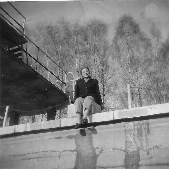 Ostrzeszowski basen, prawdopodobnie początek lat sześćdziesiątych, na startówce ..., stare zdjęcia -