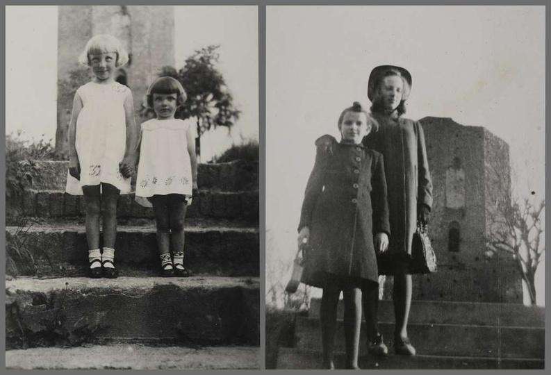 Lata trzydzieste, na pierwszy zdjęciu stoją: Władysława Irena Śliwińska i Bożena..., stare zdjęcia -