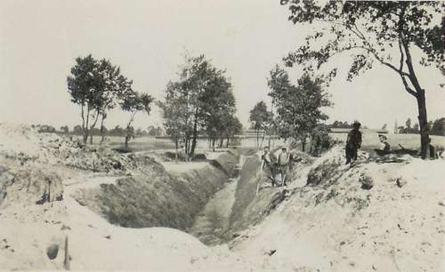 Budowa basenu kapielowego 1935, stare zdjęcia -