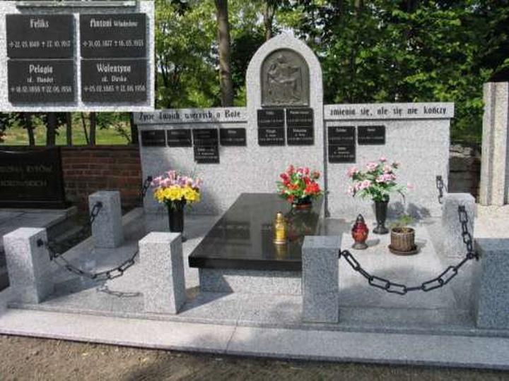 Grób rodziny Wodniakowskich, stare zdjęcia -