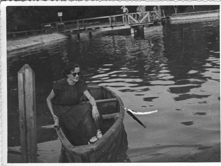 Ostrzeszowski basen, początek lat pięćdziesiątych. Kąpielisko przed przebudową, ..., stare zdjęcia -