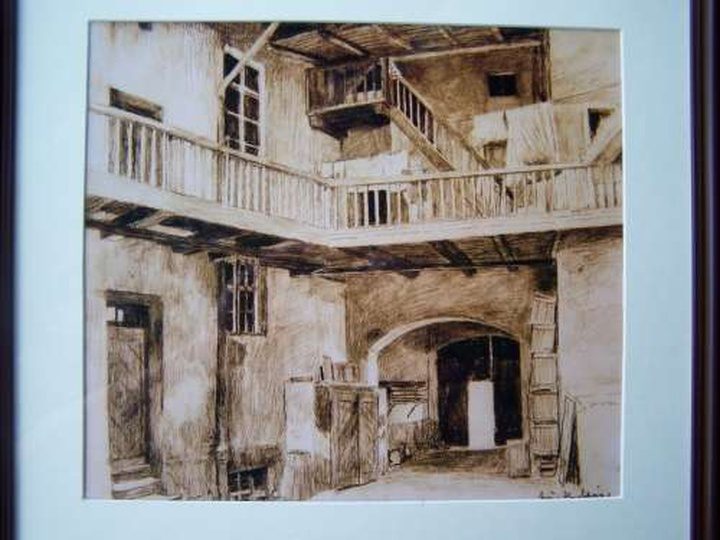 """""""Podwóko przy ul. Zamkowej nr 2"""" - [lata 1930 - 40], stare zdjęcia -"""