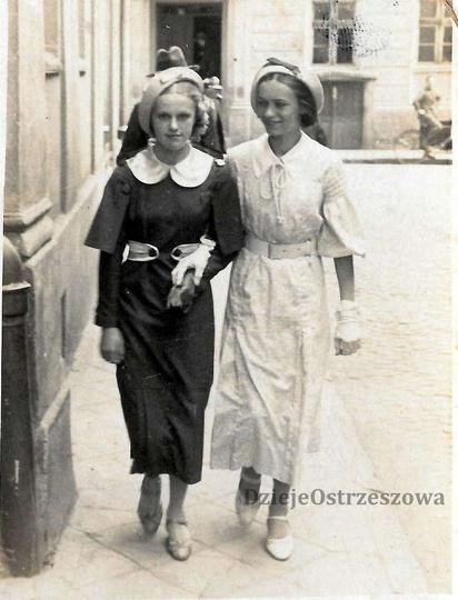 21,06,1936, ulica Okrężna, w tyle widoczna kamienica przy ulicy Poprzecznej 2. P..., stare zdjęcia -