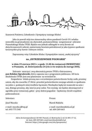 Poznański Klub Towarzystwa Przyjaciół Ziemi Ostrzeszowskiej ZAPRASZA!, stare zdjęcia -