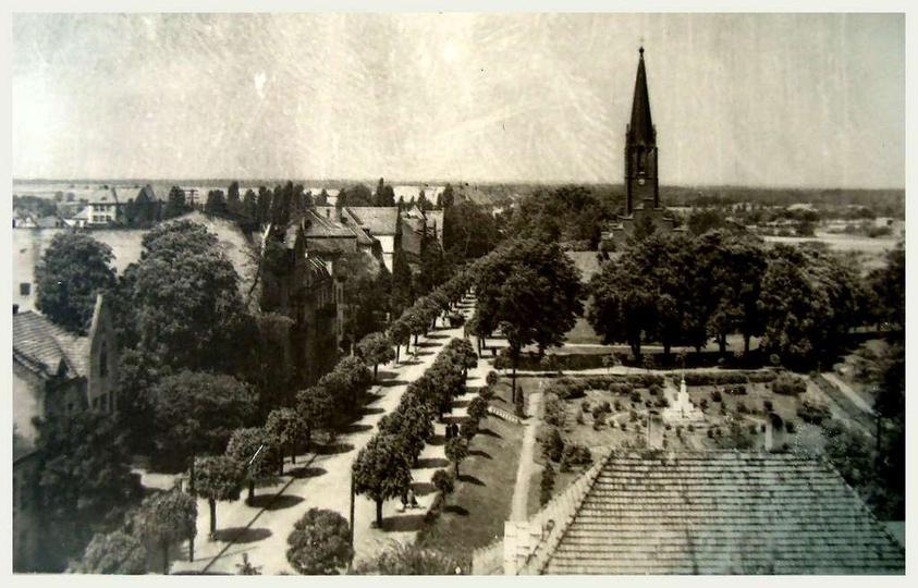 Początek lat sześćdziesiątych, widok z baszty na ulicę Boh. Stalingradu (Zamkowa..., stare zdjęcia -