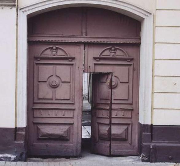 Brama wjazdowa-Fabryka Obuwia, stare zdjęcia -