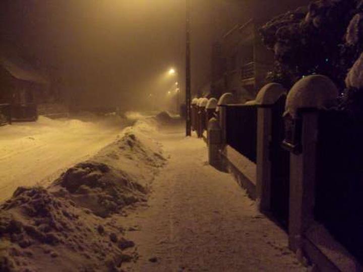 Zima na Przedmieściu, stare zdjęcia -
