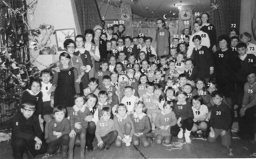Świetlica Towarzystwa Przyjaciół Dzieci, zabawa sylwestrowa, przełom lat 1968/69..., stare zdjęcia -