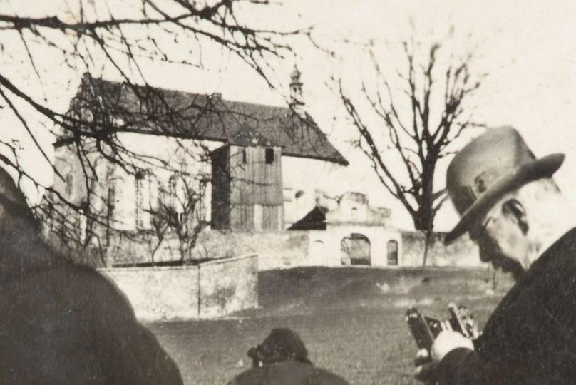 Rok 1937, rewelacyjne zdjęcie klasztornego wzgórza z kościołem, rozebranej ok. 1... -