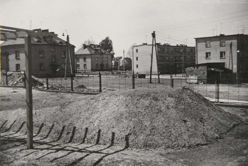 Osiedle M.Nowotki (Zamkowe). Lata sześćdziesiąte, fragment osiedla oglądany z t..., stare zdjęcia -