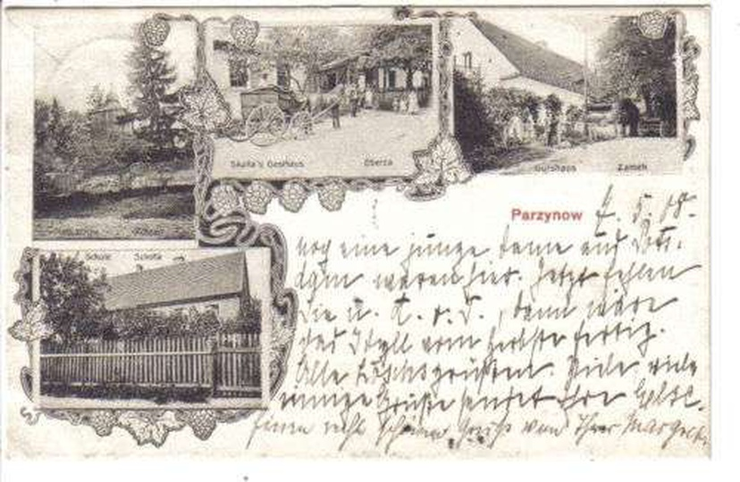 Parzynów 1908 rok., stare zdjęcia -