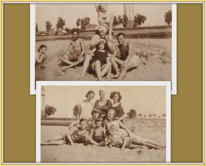 Staw u Liebchena Zanim wybudowano obecny basen kąpielowy, ostrzeszowianie korzy..., stare zdjęcia -