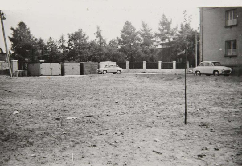 Osiedle M. Nowotki (Zamkowe) Lata sześćdziesiąte, po prawej widoczny fragment b..., stare zdjęcia -