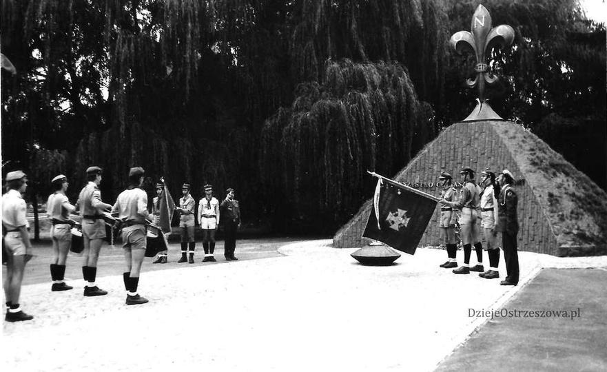 1 września 1984 rok, uroczystość upamiętniająca rocznicę wybuchu II wojny świato..., stare zdjęcia -