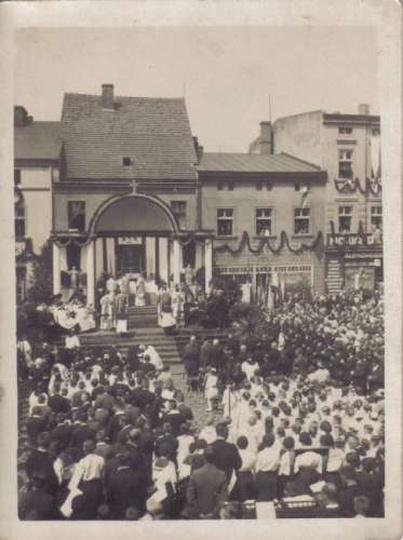 Ostrzeszów-rynek 1938, stare zdjęcia -