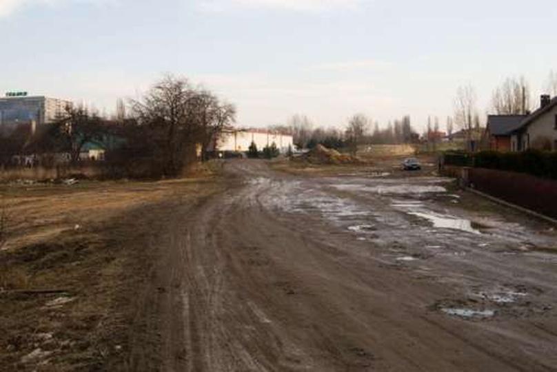 ul. JP2 przed budową - 26 stycznia 2009, stare zdjęcia -