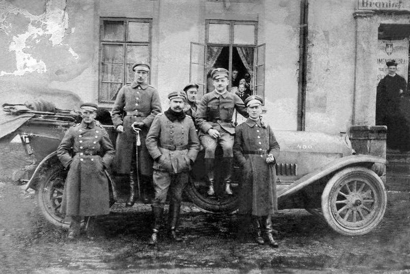 Inspekcja odcinka ostrzeszowskiego przez Zygmunta Wieliczkę w połowie stycznia 1..., stare zdjęcia -