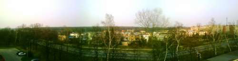 Droga nr 11, wylot na Ostrów wlkp - widok na Las Klasztorny, oś Zamkowe, [ 2009r..., stare zdjęcia -