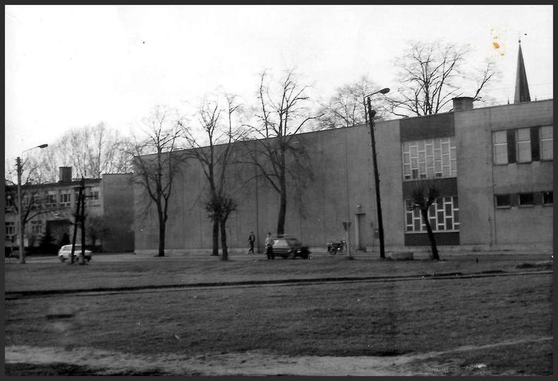 Plac Borek i ostrzeszowskie kino po kolejnym dużym remoncie. Prawdopodobnie zdję..., stare zdjęcia -