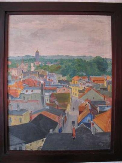 Obraz Antoniego Serbeńskiego, olej, wym.70/53 cm, stare zdjęcia -